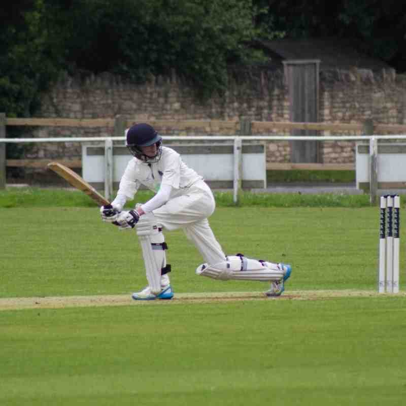 Dan Weston, along with Ethan Cox, added some useful runs for the last wicket (Credit: Shaun Weston)