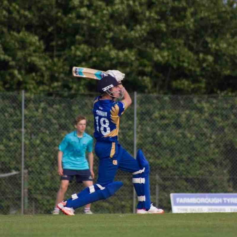 Jake Barrow hits out for the Falcons (Credit: Dan Weston)