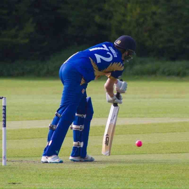 Sam Croker scored 51 not out before he had to retire (Credit: Dan Weston)