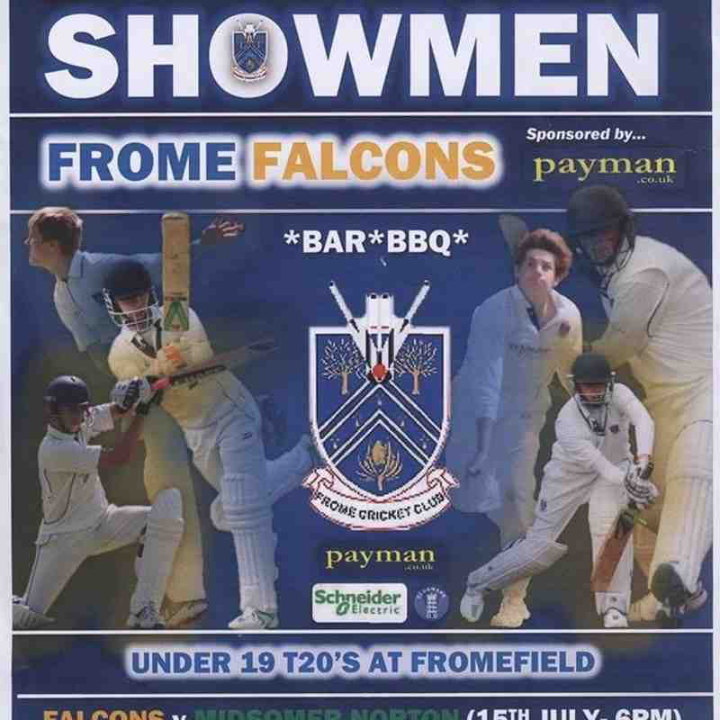 Poster promoting the Falcons home fixtures