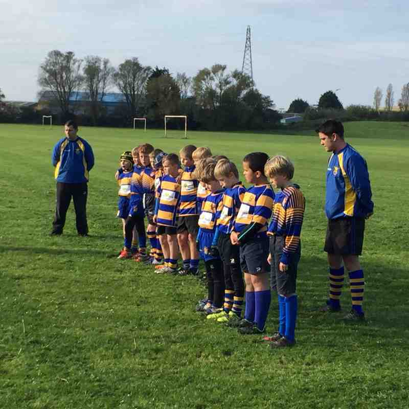 Clevedon U10's - Remembrance observed