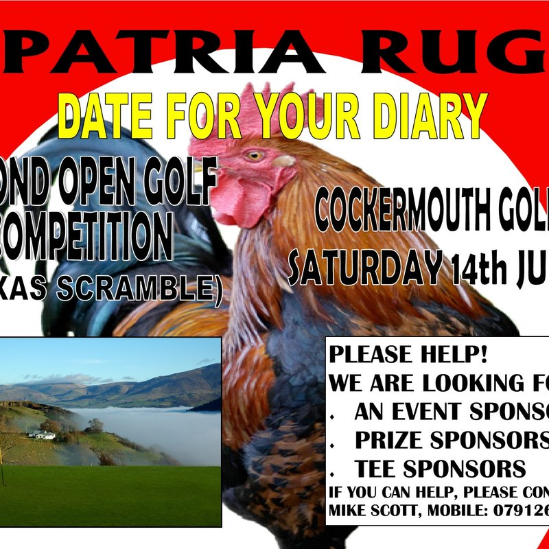 ANNUAL GOLF DAY : DATE ANNOUNCED