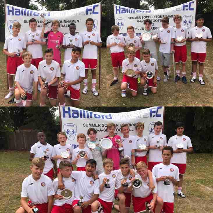 Halliford Colts tournament clean sweep