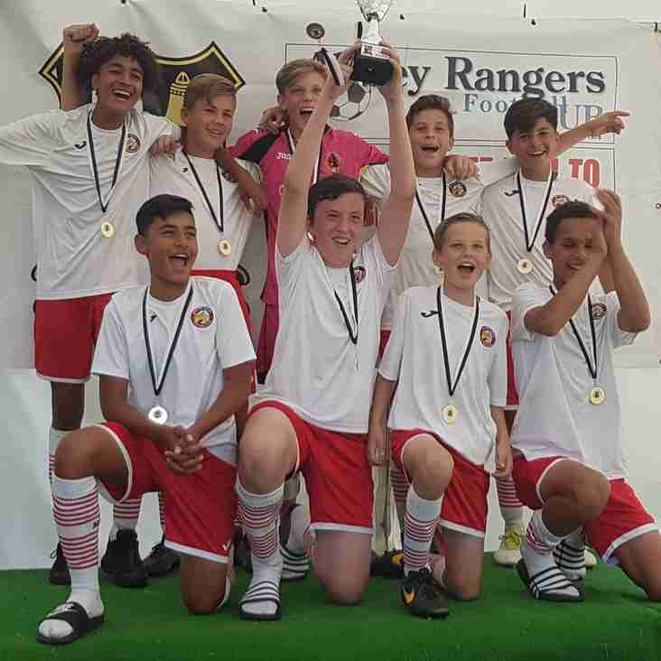 U14's Win Abbey Rangers tounament.