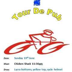 Tour de Pub, Sunday 19th June 11.30am