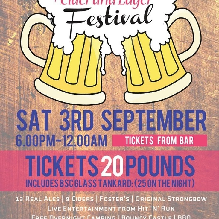 Real Ale Festival - 3rd September - Book Your Tickets Now<