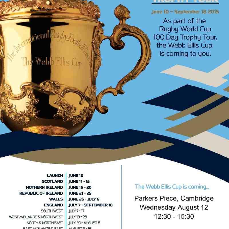Webb Ellis Cup comes to Cambridge