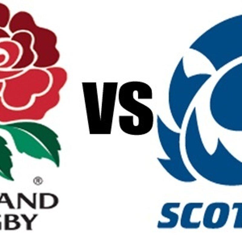 England vs Scotland live at the club