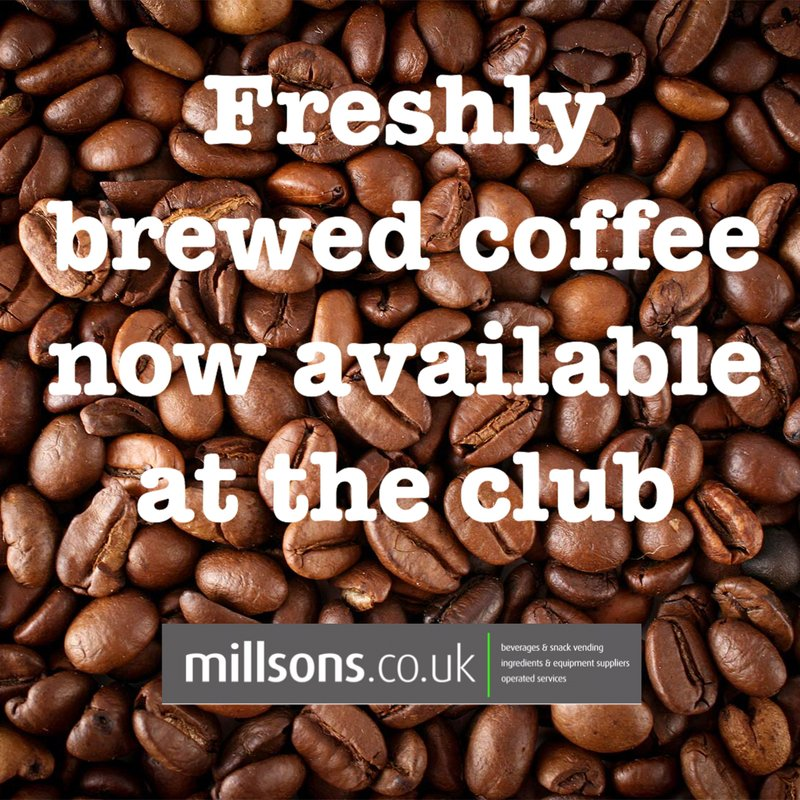 Freshly Brewed Coffee now available at the Club
