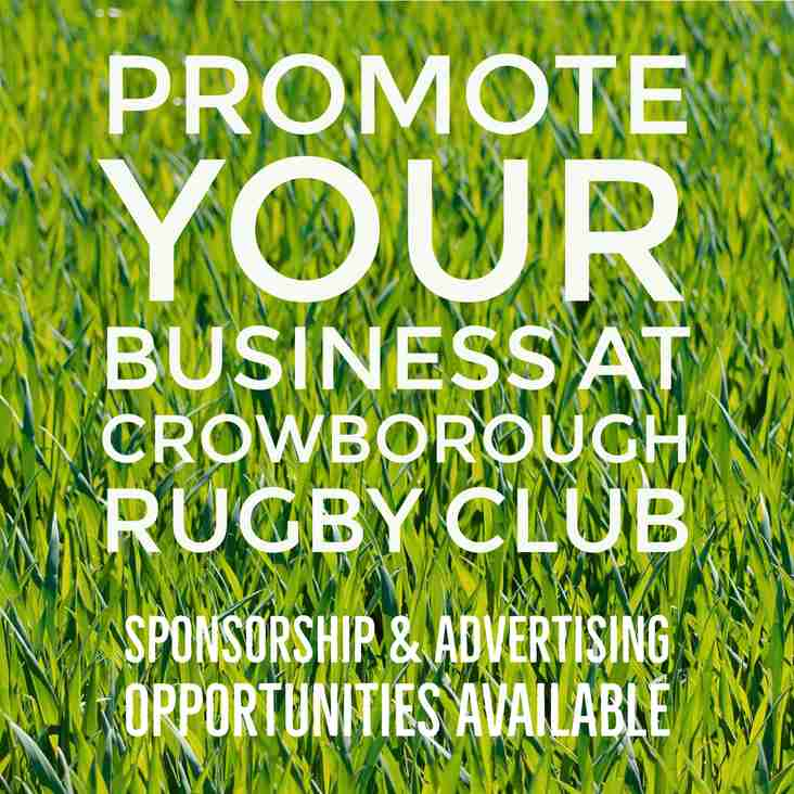 Promote your business at Crowborough Rugby Club