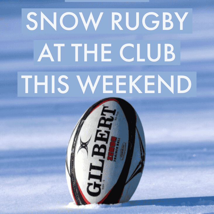 No rugby at the Club this weekend