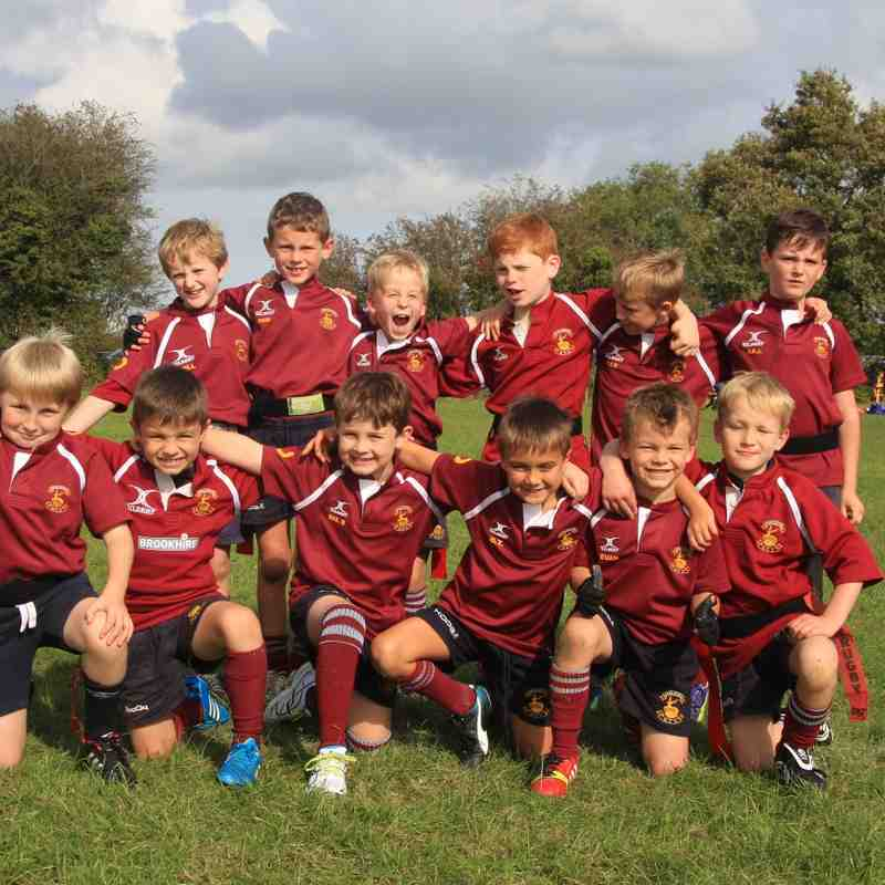 MRFC Under 8s at the Dursley Festival