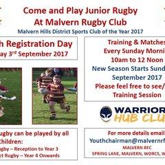 Youth Registration Sept 2017