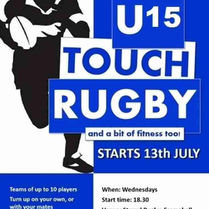U15 touch rugby