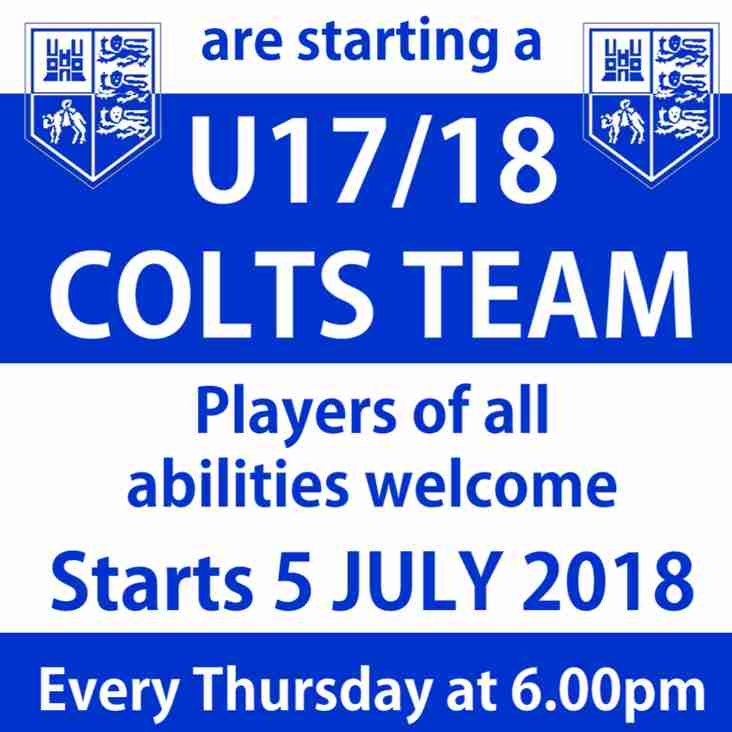 U17/18 Colts Team