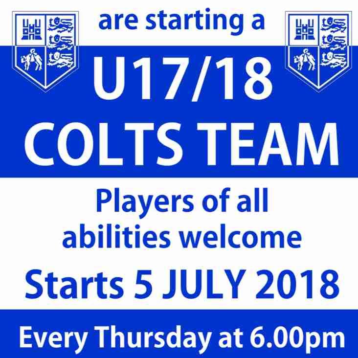 U17/18 Colts Team