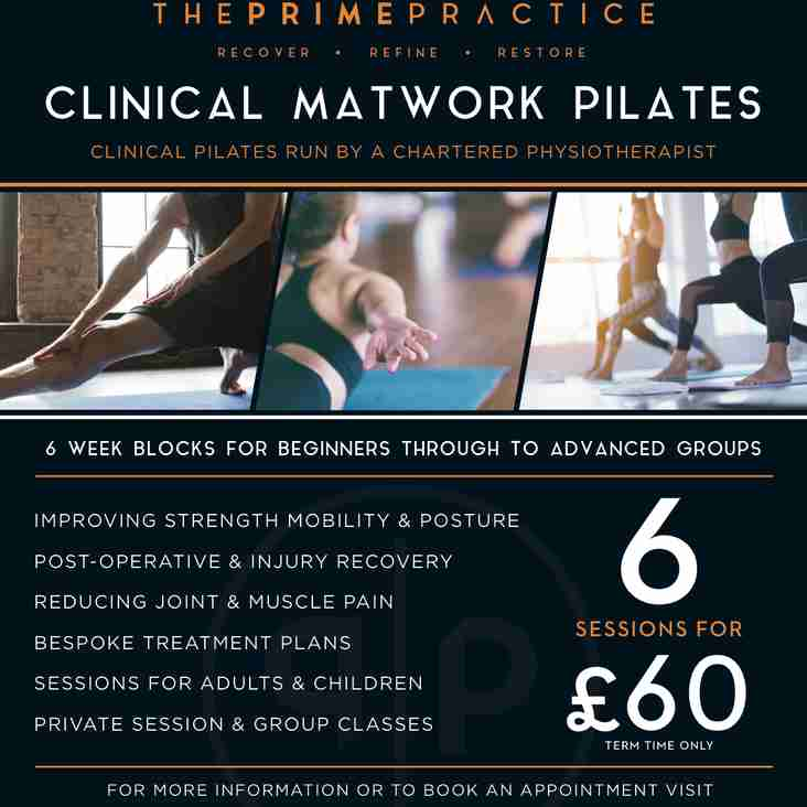 Pilates at Stroud Rugby
