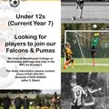 U12s Players Wanted!