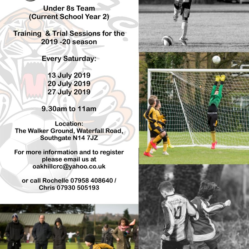 U8s Players Wanted!