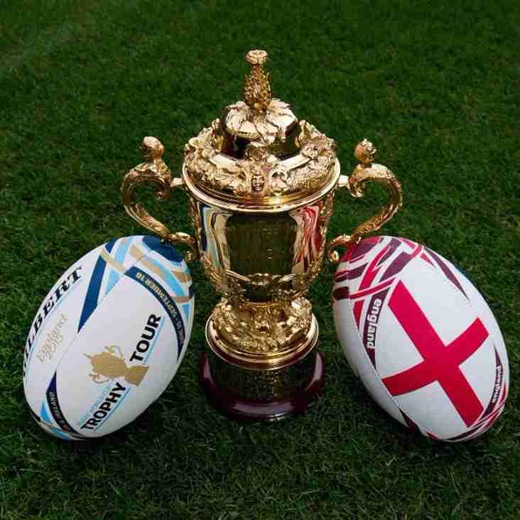 The Webb Ellis Trophy Arrives in The Midlands!