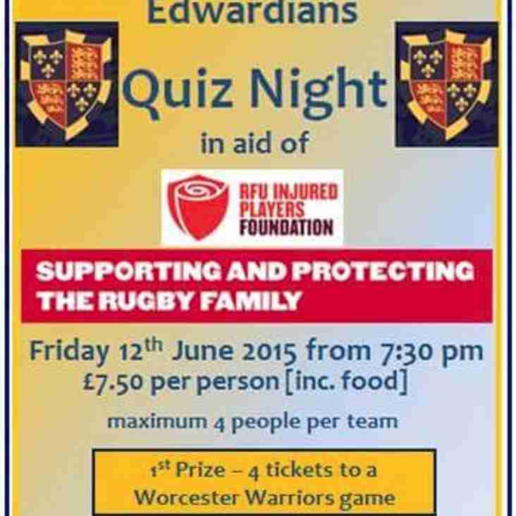 Quiz night in aid of the RFU Injured Players Foundation