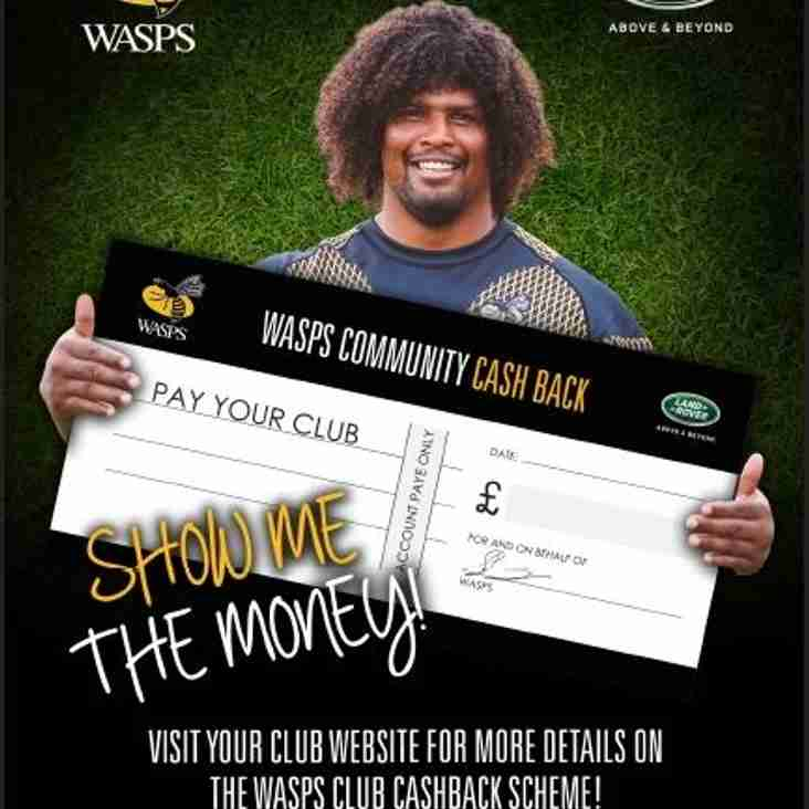 Club cashback on Wasps tickets
