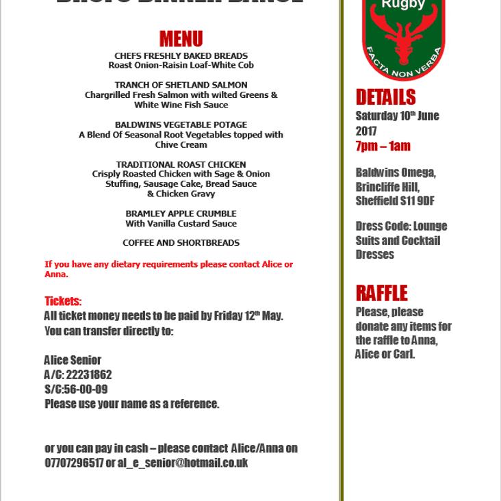 DRUFC Dinner & Dance, June 10th Event Info