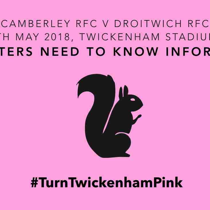 Camberley RFC at Twickenham 2018 - Supporters Need to Know Information