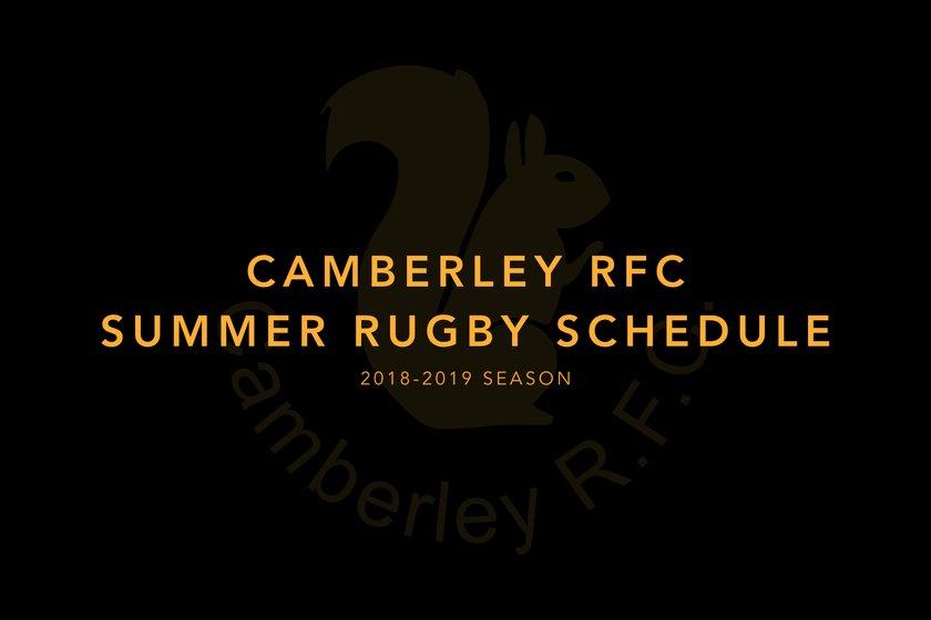 Camberley Senior Club Pre-Season Schedule