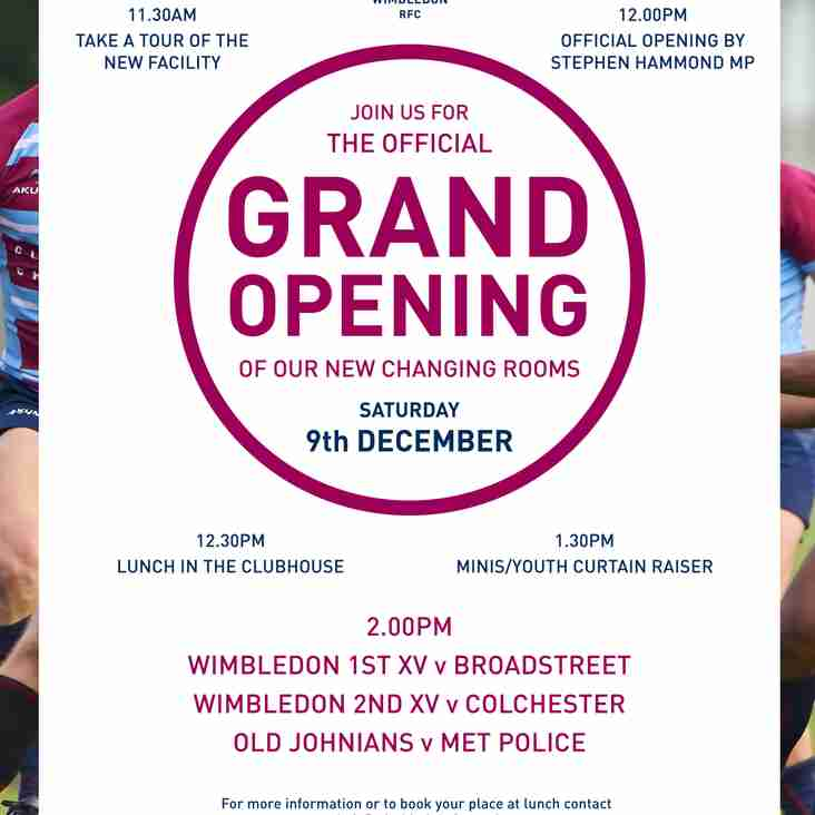 Wimbledon RFC's Changing Room Opening Ceremony