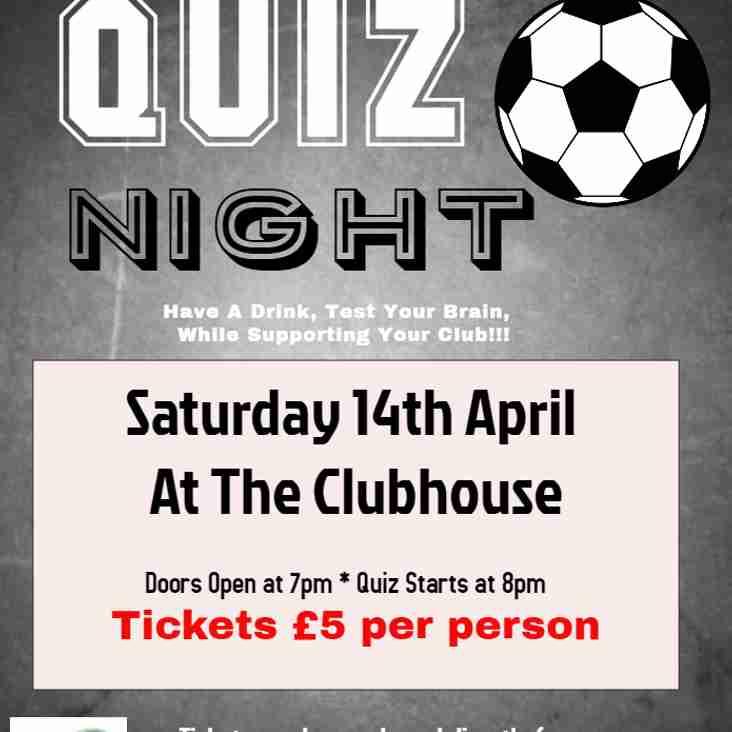 Quiz Night 14th April 2018