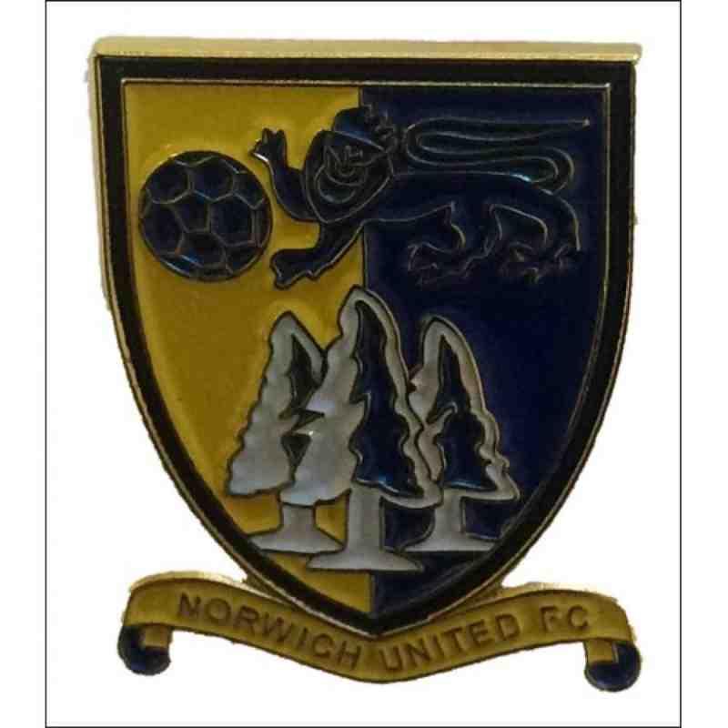 Norwich Utd FC Enamel Badge