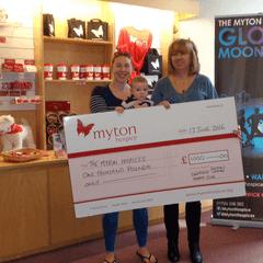 Donation to Myton Hospice