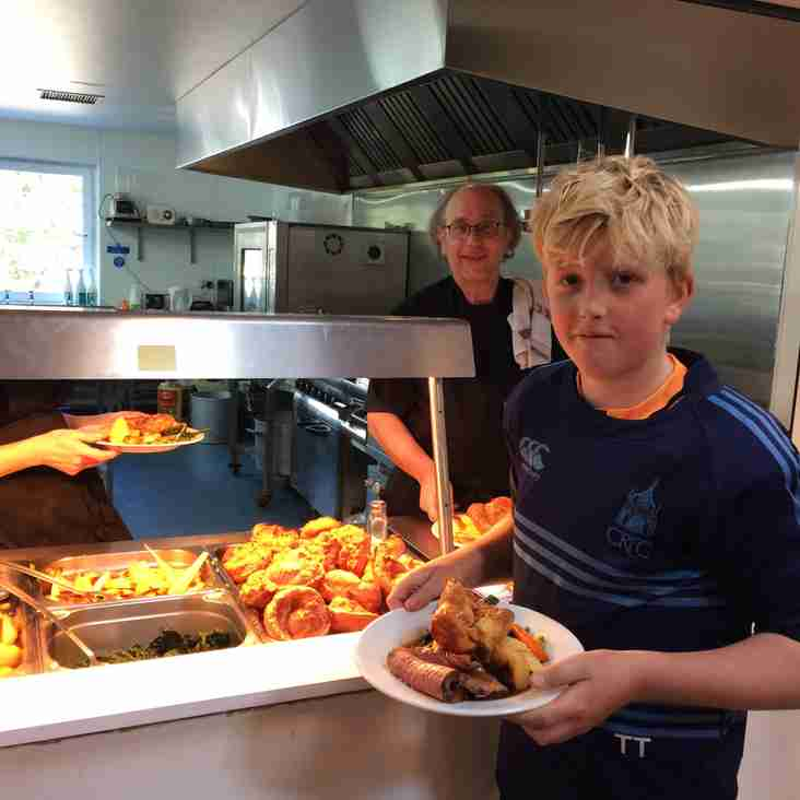 Roasts dinners @ CRFC, keeping Players, Coaches, Mums & Dads fueled!