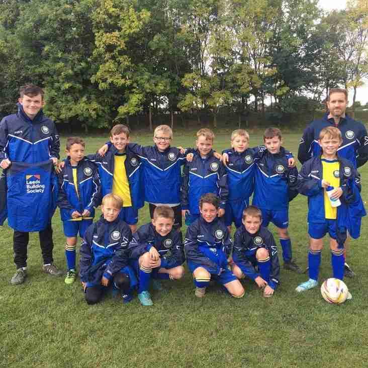 Leeds Building Society sponsor Tynemouth United U10s