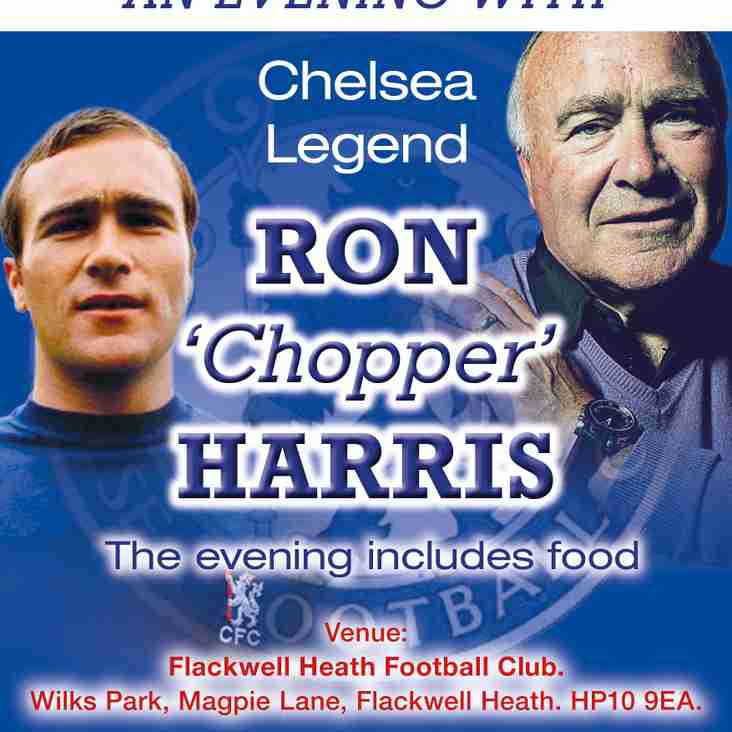 RON (CHOPPER) HARRIS IS COMING TO FLACKWELL HEATH FC
