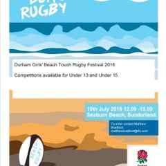 Durham Girls Tag Rugby Beach Festival