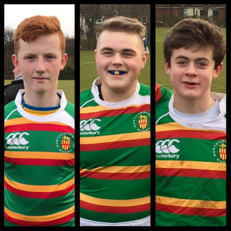 Three Alnwick u15s Represent County against Cumbria