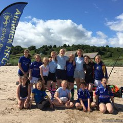 Girls Beach Rugby at Alnmouth