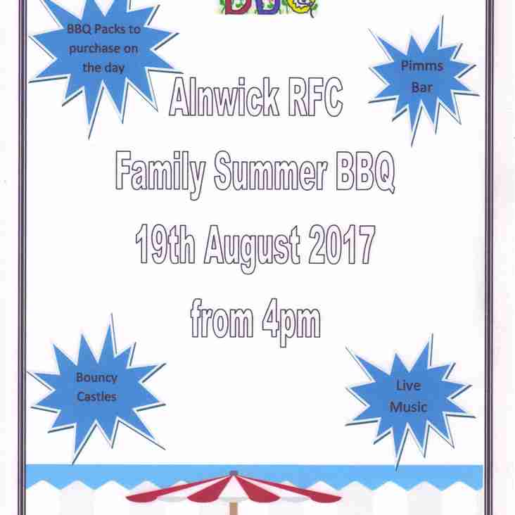 Summer Barbecue from 4.00pm on Saturday 19th August.