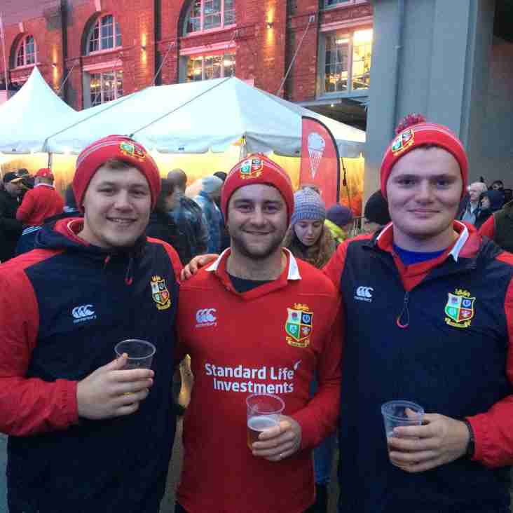 Callum Hugh and Rory at Lions Matches
