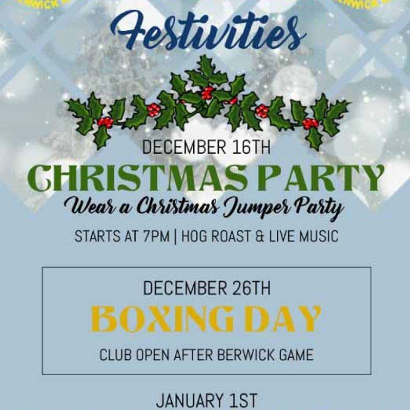 Alnwick RFC Christmas Party