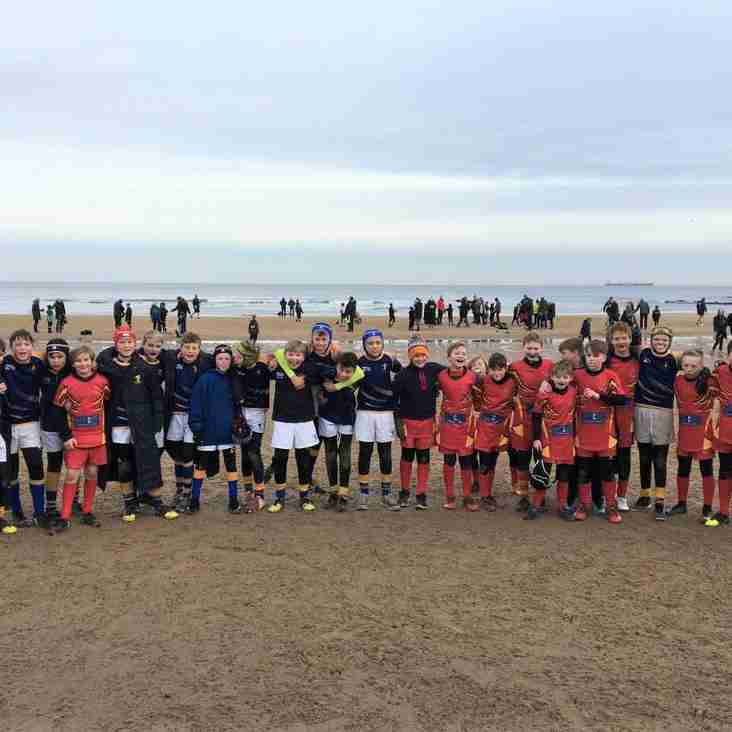 Alnwick U12's Take on Whitley Bay Rockliff in Beach Battle