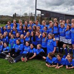 U13s Girls at Alnwick Rugby Festival
