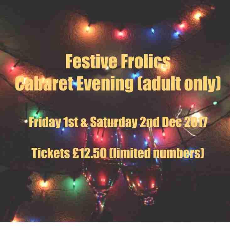 Festive Frolics - tickets still available