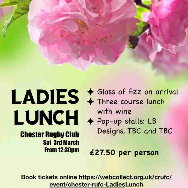 Lades Lunch - Saturday March 3rd
