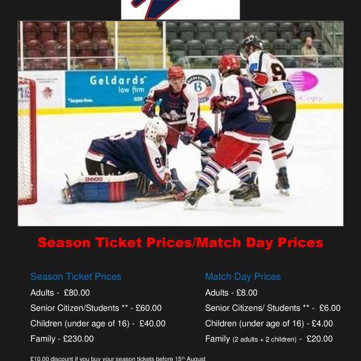 Season Ticket Prices - 2017/2018<