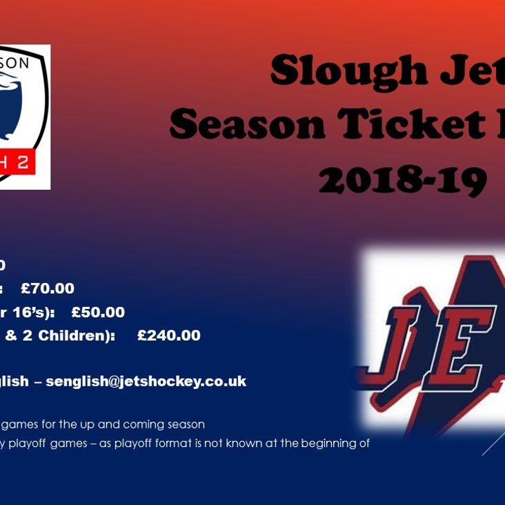 Season Ticket Prices<