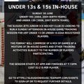 Slough Jets Juniors are holding a in-house games