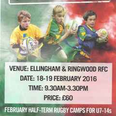 18th & 19th February 2016 London Irish Rugby Camp at ERRFC
